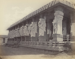 Secundermalie [Skandamalai], near Madura. Front of entrance porch